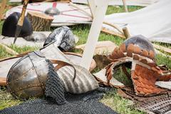 Stock Photo of medieval helmets