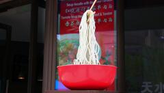 Noodles restaurant in Shanghai, China Stock Footage