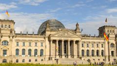 Berlin german bundestag time lapse close pan 11459 Stock Footage