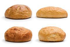 Four whole bread Stock Photos