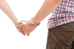 couple's forced relation - stock photo