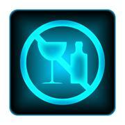 Stock Illustration of no alcohol icon