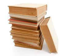 pile of old books . - stock photo