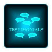 testimonials icon - stock illustration