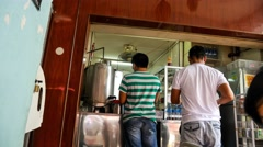 4k UHD time lapse video of Sarabat stall (drinks stall owned by Indian Muslim) - stock footage