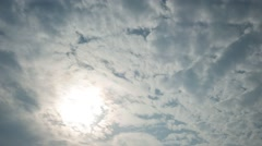 T/L White clouds moving in the sky - stock footage