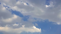 T/L White clouds moving in the sky Stock Footage