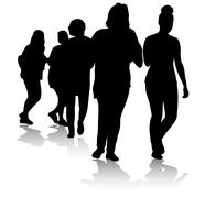Teenager silhouettes Stock Illustration