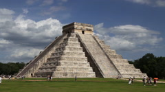 Chichen Itza Pyramid El Castillo - stock footage