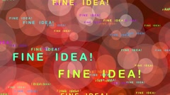Fine idea! - motion graphics Stock Footage