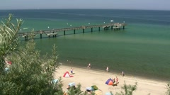 Rerik Pier - Baltic Sea, Northern Germany Stock Footage