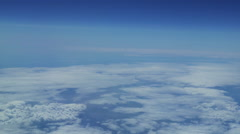 Airplane View of Clouds in the Stratosphere Stock Footage