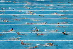 Competition swimming pool Stock Photos