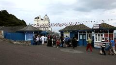 Seaside Pier Entrance - Llandudno, Wales  Stock Footage