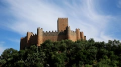 Almourol Castle Portugal Stock Footage