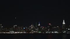 New York City panorama skyline night Manhattan skyscraper tower USA iconic view  Arkistovideo