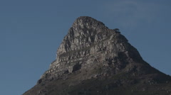 Tripod shot of a mountain peak in capetown south africa Stock Footage