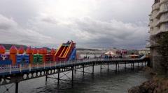 Seaside Pier - Llandudno, Wales Stock Footage