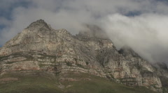 Timelapse of a mountain in capetown south africa Stock Footage