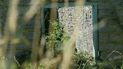 Abandoned stone and brick house building warborrow 3 Stock Footage