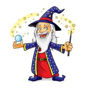 wizard - stock illustration
