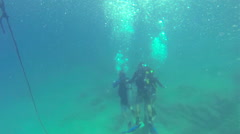 Scuba Divers Underwater 3 - stock footage