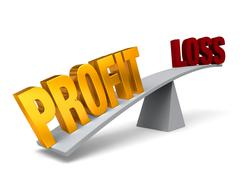 Stock Illustration of profit outweighs loss