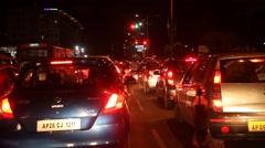 Night traffic in Bangkok Stock Footage