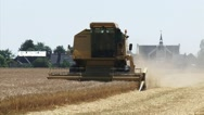 Stock Video Footage of Wheat harvest in the northern sea clay area of Groningen, The Netherlands