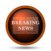 Breaking news icon Stock Illustration