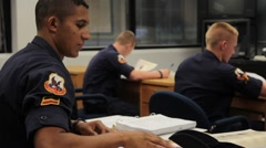 Uniformed Students in Classroom Stock Footage