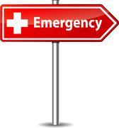 Vector emergency sign Stock Illustration