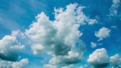 Beautiful Clouds Flying on Camera. Time-lapse. Daylight. 4K. Stock Footage