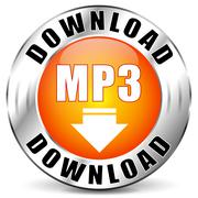 Vector mp3 download icon Stock Illustration