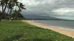 idyllic sugar beach at maui island hawaii - stock footage