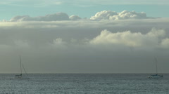Timelapse  clouds over pacific ocean in hawaii,big island Stock Footage