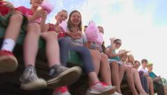 Happy Families on Hay Ride - stock footage