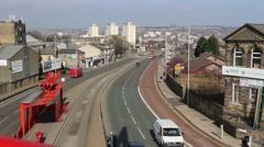 Traffic on Manchester Bradford West Yorkshire UK Stock Footage
