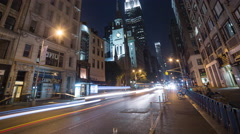 Empire State Building in New York City Timelapse Night Beautiful 5th Ave NYC 4K Stock Footage