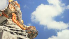Eastern Religion - Ganesha the Hindu Deity (Cloud Time Lapse) Stock Footage