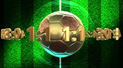 Soccer ball with numbers and euro signs Stock Footage