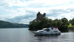 Loch Ness Urquhart Castle Stock Footage