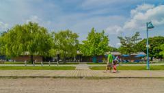 Beaches and Cream - Ashbridges Bay Boardwalk Toronto Stock Footage