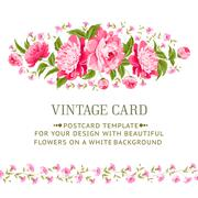 Luxurious vintage frame. Stock Illustration