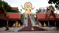 Stock Video Footage of Big Buddha Temple in Koh Samui, Thailand. Speed up.