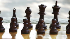 2032 Chess Game Outside, HD Stock Footage