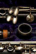 Clarinet parts detail Stock Photos