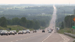 Heavy haze and smog in Caledon Ontario on hot summer day Stock Footage
