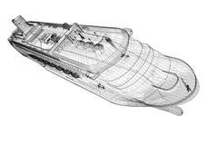 cruise liner - stock illustration