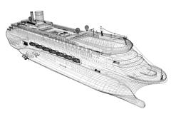 Cruise liner Stock Illustration